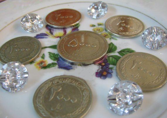 تزیین سکه سفره هفت سین