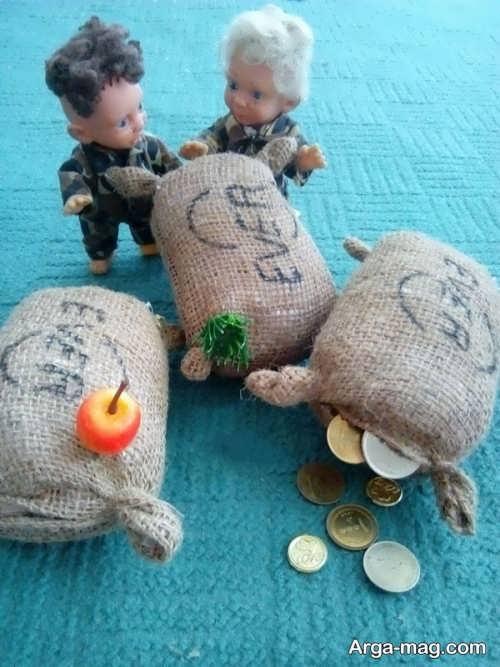 تزیین جالب و ساده سکه برای سفره هفت سین