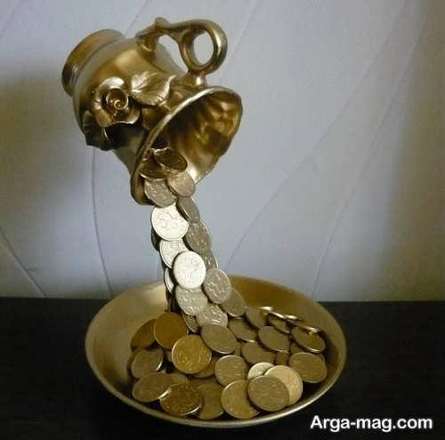 تزیین جالب سکه برای سفره هفت سین