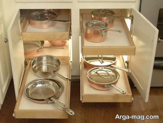 ذخیره سازی خلاقانه ظروف