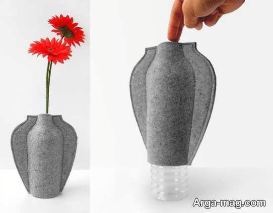ساخت گلدان با مواد دور ریختنی