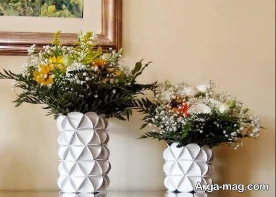 ساخت گلدان با مواد بلا استفاده