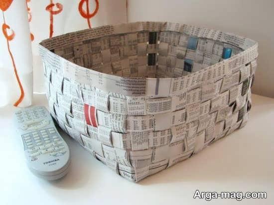 کاردستی با کاغذهای باطله