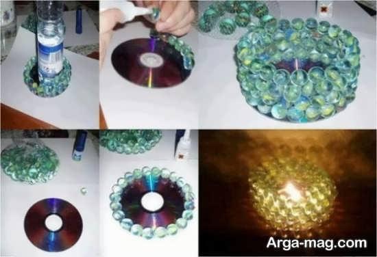 کاردستی شمعدان با سی دی