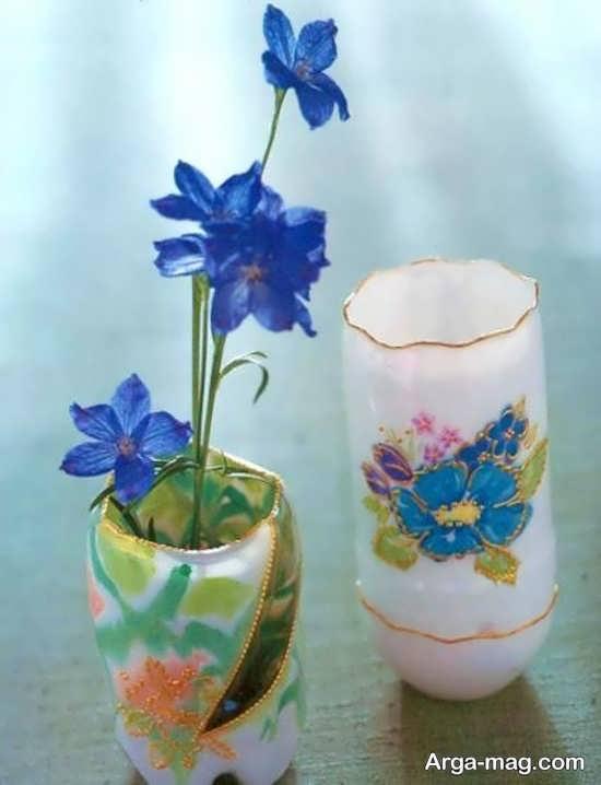 ساخت گلدان با پلاستیک