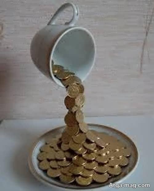 جالب ترین تزیین سکه سفره هفت سین