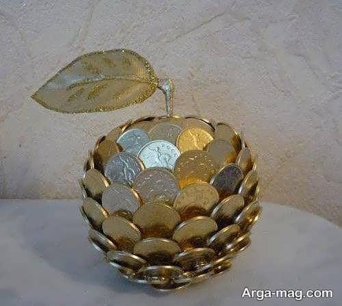 تزیینات قشنگ سکه برای سفره هفت سین