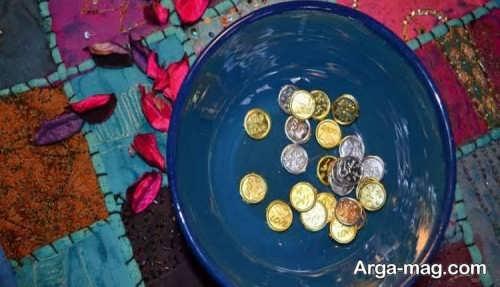 تزیینات فوق العاده سکه برای سفره هفت سین