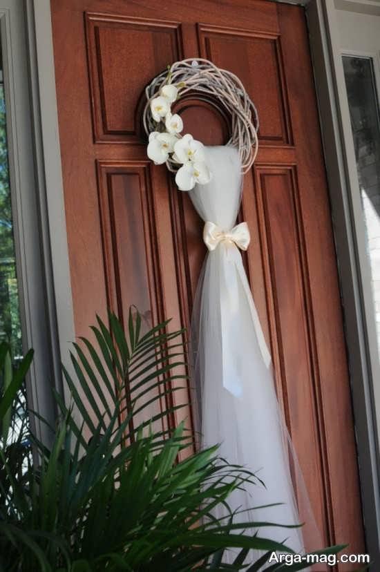 دکور زیبای درب اتاق عروس
