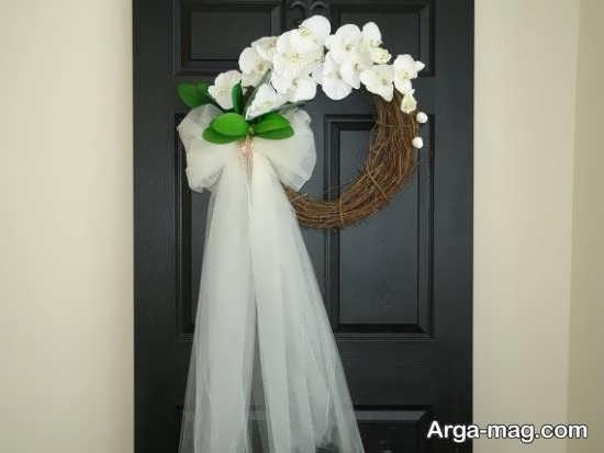 تزیین زیبای درب اتاق عروس