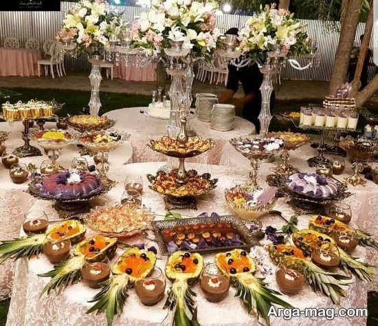 تزیین جدید میز شام با گل