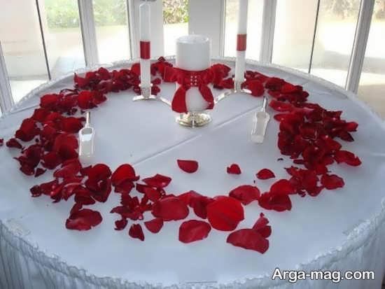 تزیین میز شام زیبا با گل