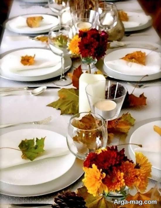گل ارایی میز شام