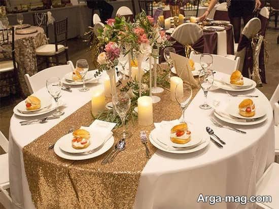 گل آرایی میز شام گرد