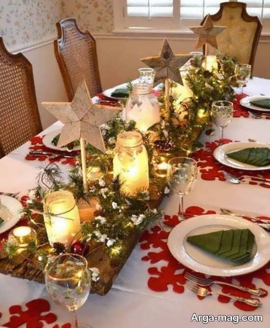تزیین شیک میز شام با گل