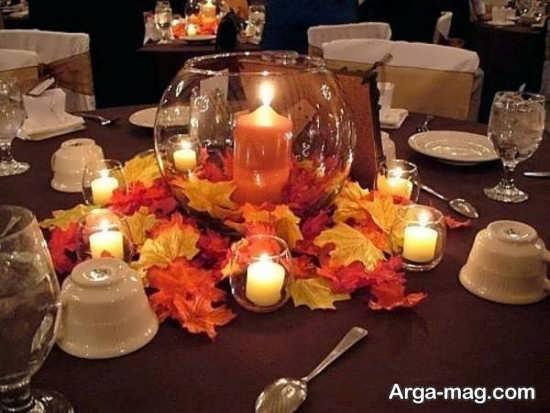 انواع تزیین میز شام با گل