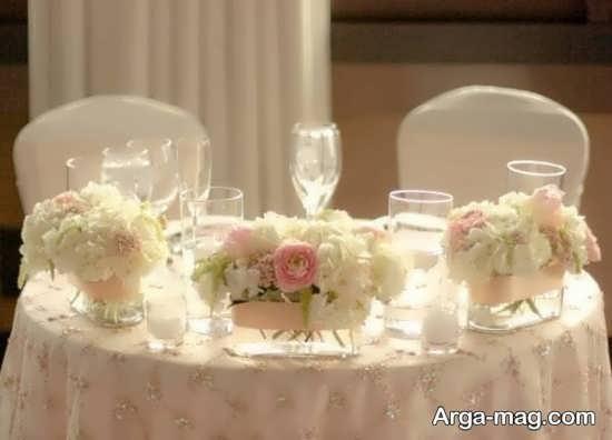 تزیینات میز شام با گل
