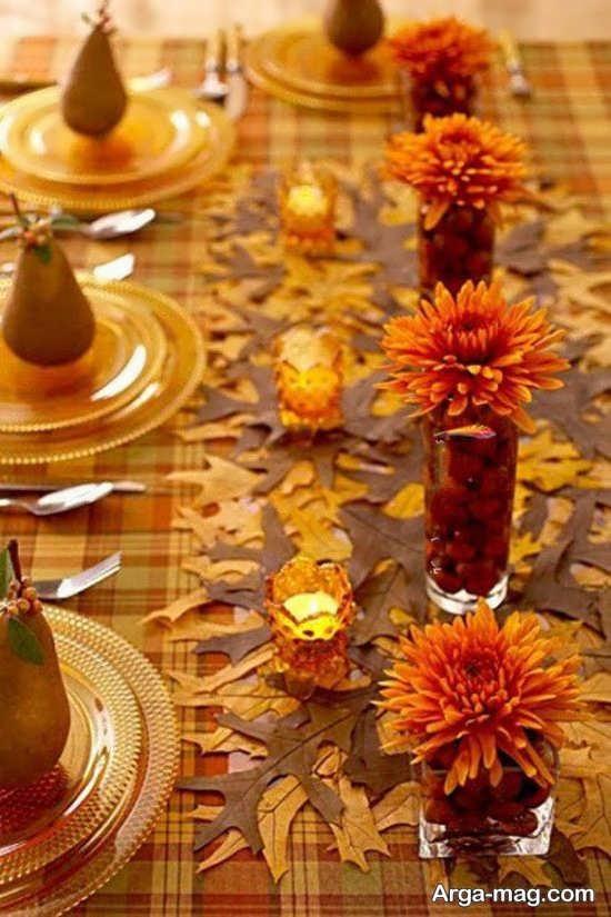 تزیین میز شام عروسی با گل