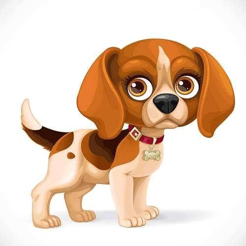 نقاشی سگ کارتونی