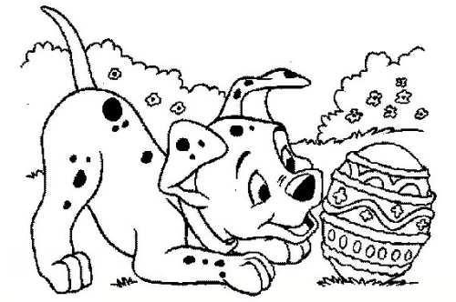 نقاشی سگ خال خالی