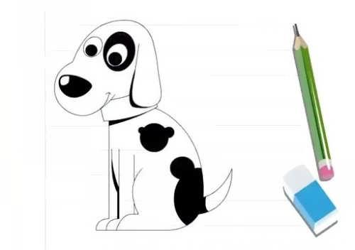 آموزش نقاشی سگ برای بچه ها