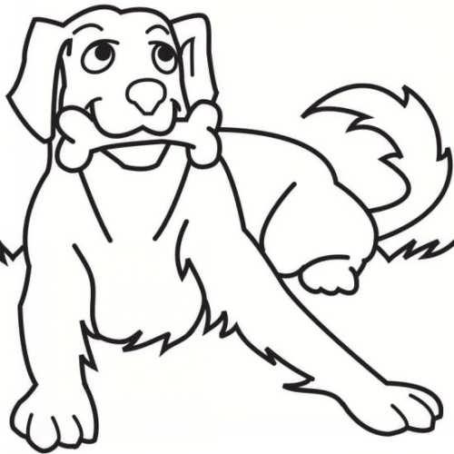 نقاشی زیبا و فانتزی سگ