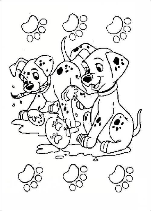 نقاشی جالب و زیبا سگ