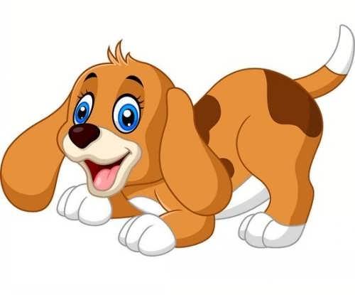 رنگ آمیزی سگ برای بچه ها