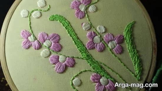 گلدوزی با طرح زیبا