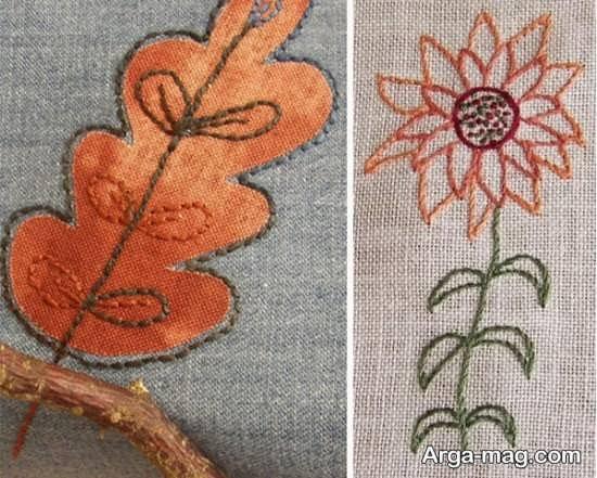 تزیین زیبای پارچه با گلدوزی