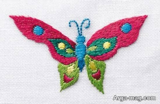 طرح پروانه برای گلدوزی
