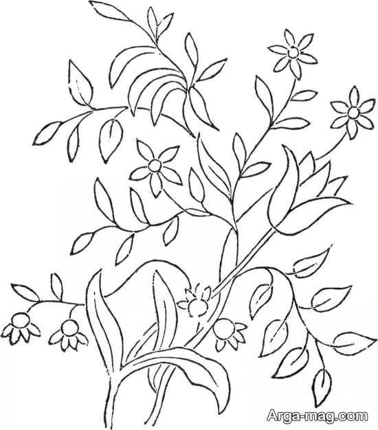 گلدوزی با طرح گل