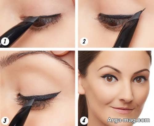 نحوه کشیدن خط چشم گربه ای