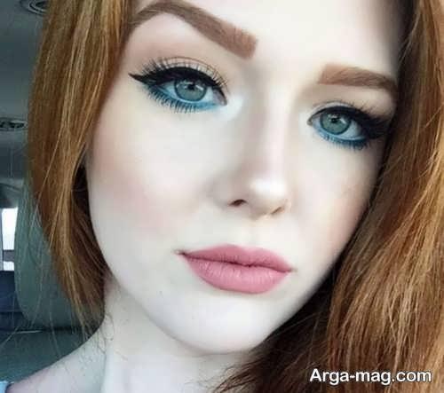 مدل میکاپ صورت با پوست روشن