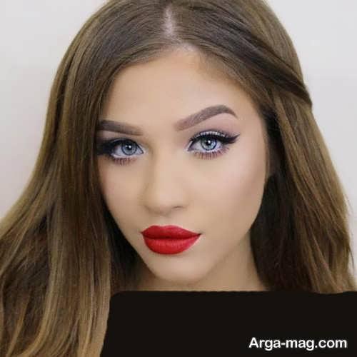 مدل آرایش صورت شیک و زیبا
