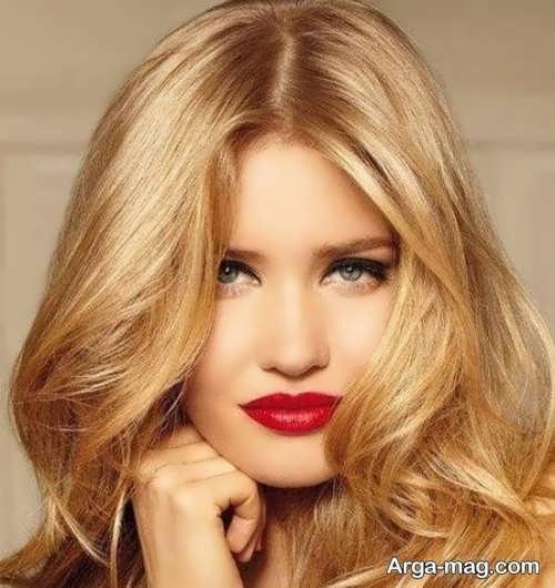 رنگ مو عسلی روشن