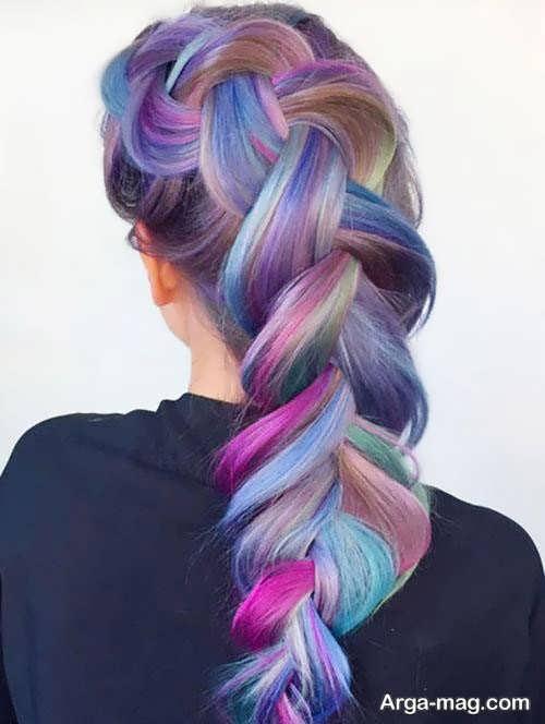 رنگ مو فانتزی ترکیبی
