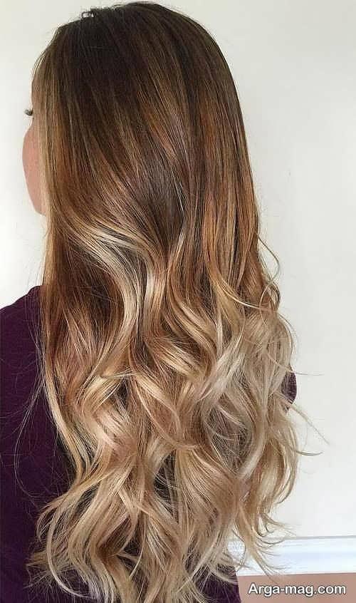 رنگ مو عسلی آمبره