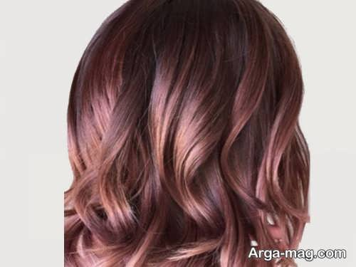 رنگ موی شکلاتی صورتی روشن