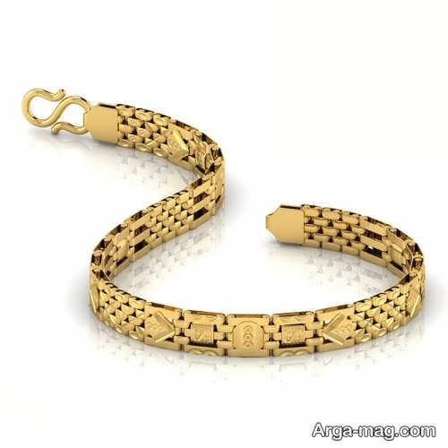 مدل های دستبند طلا مردانه جدید با طراحی مدرن و لاکچری