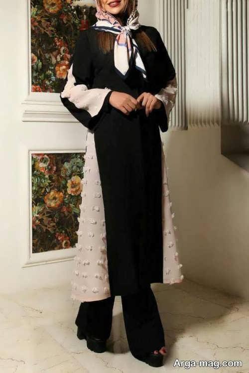 مدل مانتوی بلند مشکی 97