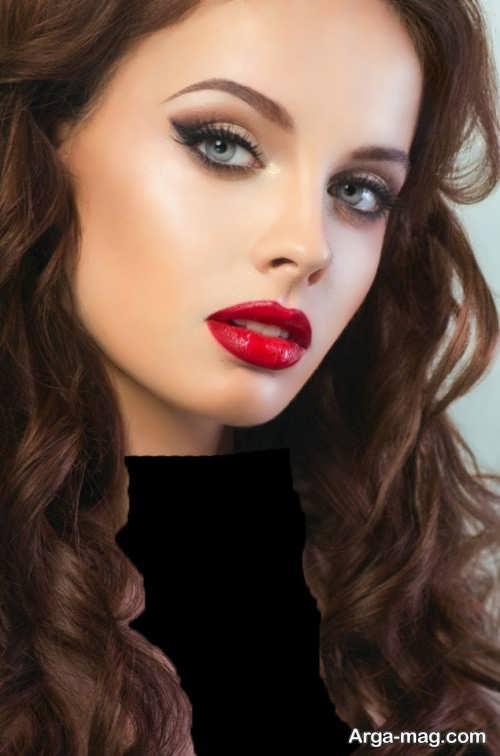 مدل آرایش صورت زیبا و جذاب