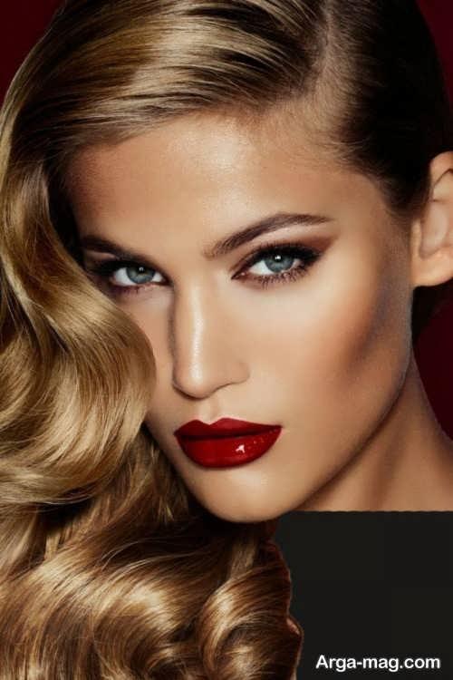 مدل آرایش صورت شیک زنانه