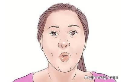 چاق کردن صورت با ماساژ