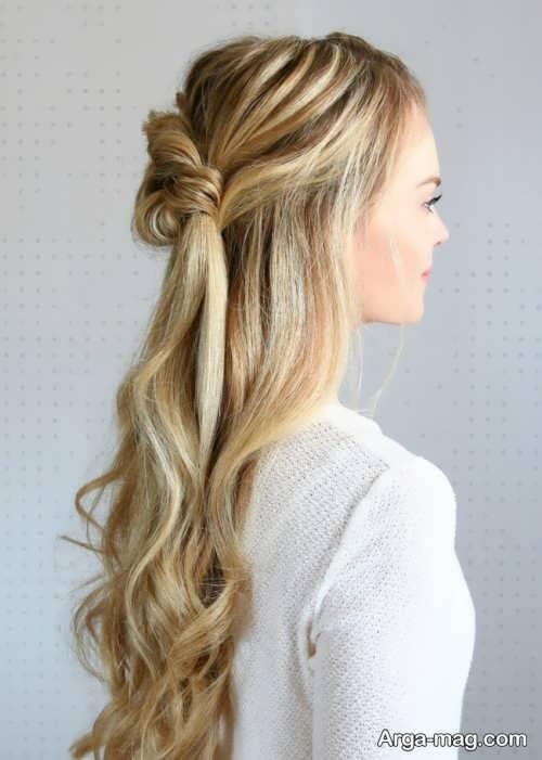 مدل موی ساده و باز