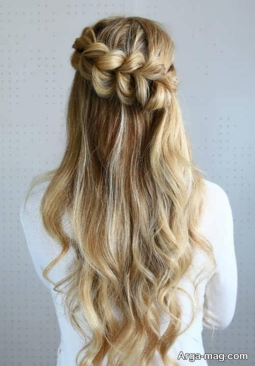 مدل موی دخترانه همراه با بافت مو
