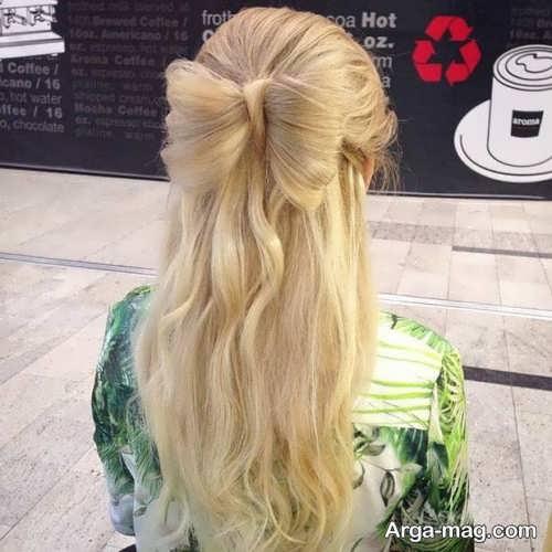 مدل موی پاپیونی باز دخترانه