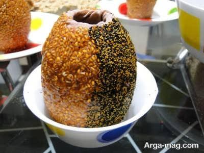 چسباندن بذر شاهی و منداب روی کوزه