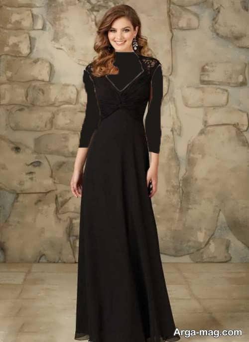لباس مجلسی بلند یقه هفت