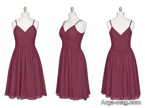 مدل لباس مجلسی یقه هفت زنانه و شیک